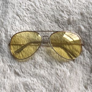 Accessories - Yellow tinted sunglasses
